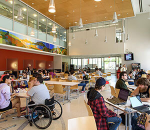 Student-in-wheelchair-in-cafe-300x260