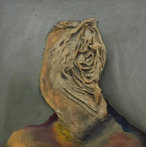 """A piece from Jacob Cullers' """"Casualty"""" series; oil on canvas (Contributed)"""