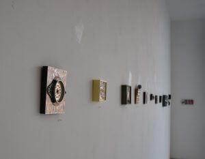 """The Art Gallery filled with Daniel Charron's exhibit """"Recent Works."""""""
