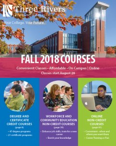 TRCC Fall 2018 Course Schedule Booklet