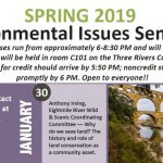 Free Three Rivers Seminars Spring 2019