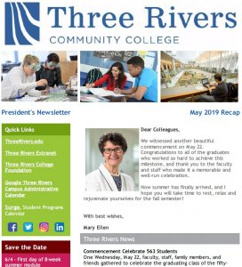 Three Rivers May Newsletter