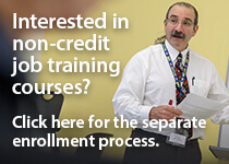 Workforce non-credit training courses enrollment how-to