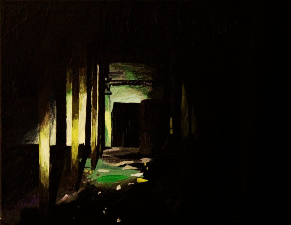 "David Fontaine, ""Abandoned Place"", Acrylic, 11""x14"""