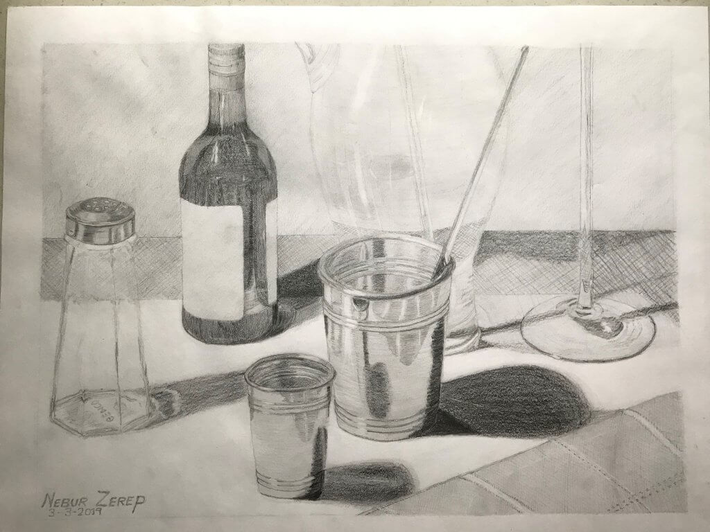 """Cheers! - Pencil - 18""""x24"""""""