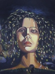 """Lisette Pascual Adames, """"Let Our Steps Carry Weight,"""" Acrylic on Canvas, 18"""" x 24"""""""