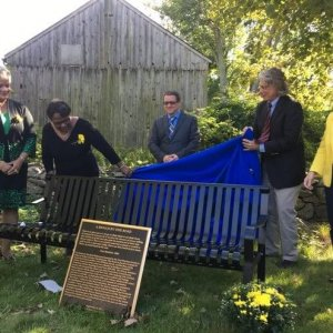 In The News   First Toni Morrison bench in state honors Prudence Crandall and Black students